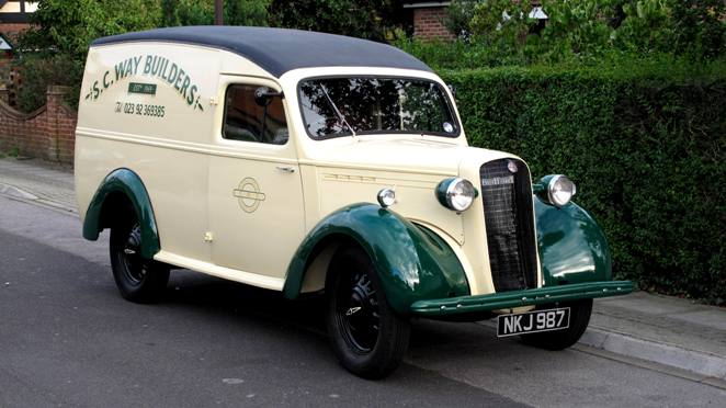 Historics At Brooklands Specialist Classic And Sports Car Auctioneers 1950 Bedford Pc Van