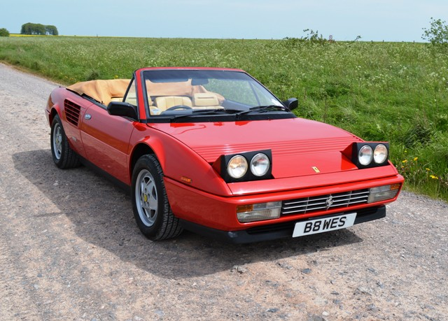 historics at brooklands specialist classic and sports car auctioneers 1986 ferrari mondial. Black Bedroom Furniture Sets. Home Design Ideas