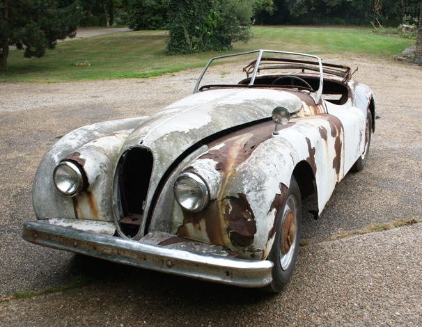 Elegant Lot 37   1955 Jaguar XK140 Roadster Restoration